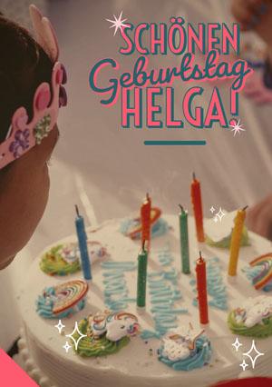 unicorn birthday cake birthday cards  Geburtstagskarte