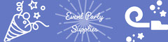 Violet and White Event Party Supplies Banner Event Banner