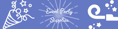 Violet and White Event Party Supplies Banner Etsy-banneri