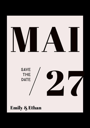 classic save the date card  Karte