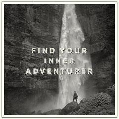 Inner Adventurer Instagram Square Black And White