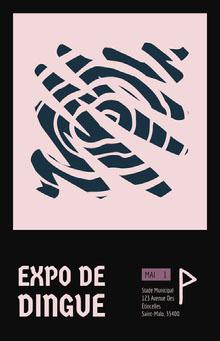 Expo de dingue Affiche