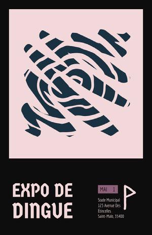 Expo de dingue Affiche événementielle