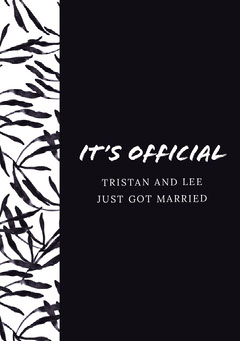 Black and White Wedding Announcement Weddings