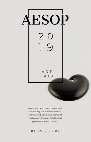 Black and Grey Art Event Poster Kunstplakat