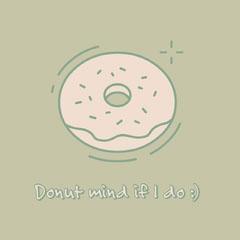Beige Donut Pun Instagram Square Graphic Donut