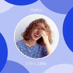 Bubbly Blue Circles Headshot Greeting Intro Hello