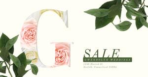 Elegant Floral Wedding Service Facebook Post Ad Facebook Ads