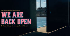 Pink Tennis Court Reopening Instagram Landscape Tennis