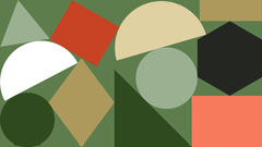 Green and Brown Abstract Geometric Shapes Zoom Background Brown
