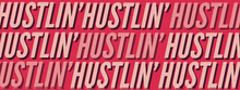 Pink and White Hustlin Banner Facebook-Titelbild
