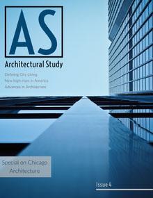 Blue and Modern Building Exterior Magazine Cover Magazine Cover