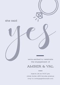 yes Engagement Invitation