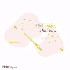 she's magic,<BR>that one. Stars