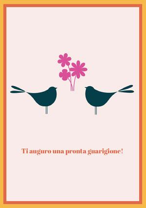 birds get well soon cards Biglietto d'auguri di pronta guarigione