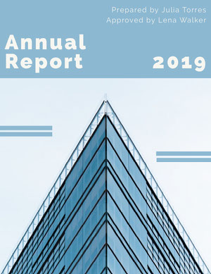 Blue Skyscraper Annual Business Report Relatório