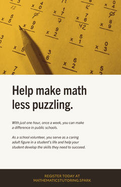 Light, Yellow and White Toned Math Tutor Ad Poster Tutor Flyer