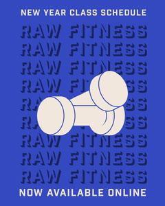 raw fitness Instagram portrait  Gym