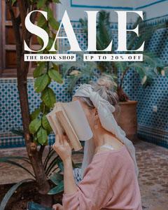 The Book Shop Sale Instagram Portrait Discount