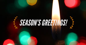 Bokeh Defocused Candle and Christmas Lights Facebook Banner Page Cover Christmas Facebook Cover