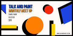Talk and Paint eventbrite banner Event Banner