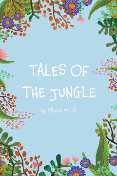 Blue Floral Tales Of The Jungle Book Cover Kids