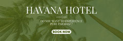 Green and White Havana Hotel Ad Facebook Banner  Hotels