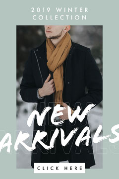 Grey, Cold Toned Winter Clothing Collection Ad, Instagram Story New Collection