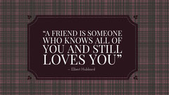Inspirational Quote on Friendship Desktop Wallpaper with Checkered Pattern Friends