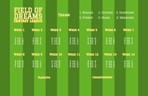 Striped Fantasy Football Schedule Fantasy Football Schedule
