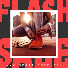 Red Sports House Flash Sale Instagram Square  Gym