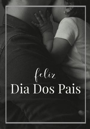black and white photo Father's Day cards  Cartão