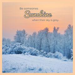 sunshine Quote Winter Instagram Square Sky
