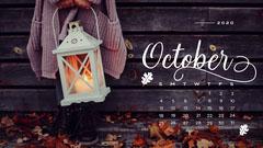 Autumn Leaves October Calendar Desktop Wallpaper Leaf