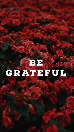 BE GRATEFUL  Lifestyle