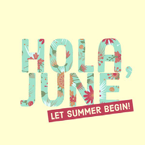 Beige, Blue and Pink Hola June Meme Instagram Post Meme