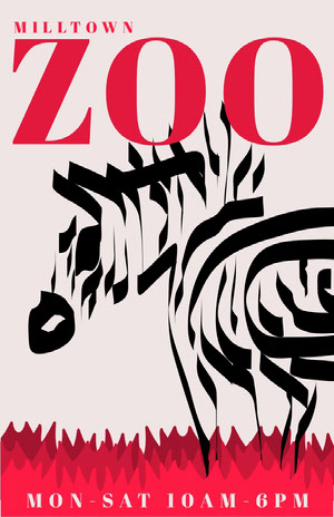 Red and Black Zebra Zoo Flyer Ideas de volantes