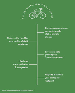 Green Environmental Benefits Of Cycling Instagram Portrait Bike
