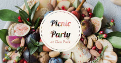 Picnic Party Facebook Event Cover with Food Fruit
