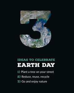 Black and Green Earth Day Ideas Instagram Portrait Graphic Earth