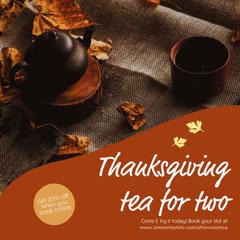 Orange Thanksgiving Tea Instagram Square Thanksgiving