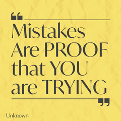 Mistakes Are Proof Quote Instagram Square Yellow