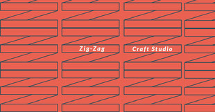 Blue and Red Zig-Zag Banner Facebook-cover