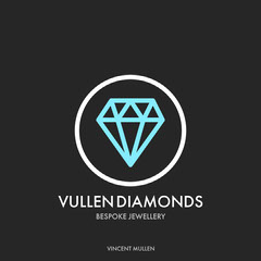 Black and Cyan Diamond in Circle Jeweler Logo Instagram Square Jewelry