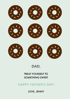 Fathers Day Card with Donuts Dessert