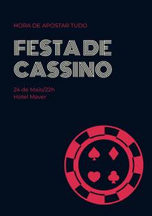 Festa de <BR>cassino Convite
