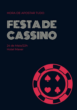 Festa de <BR>cassino Convite para festa