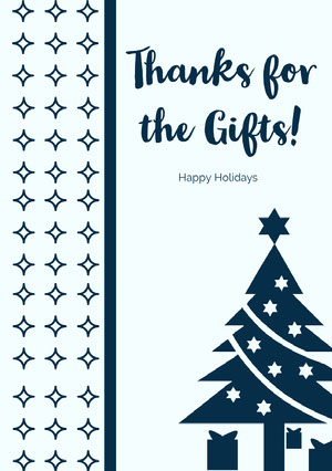 Navy Blue and Blue Christmas Card Christmas Card