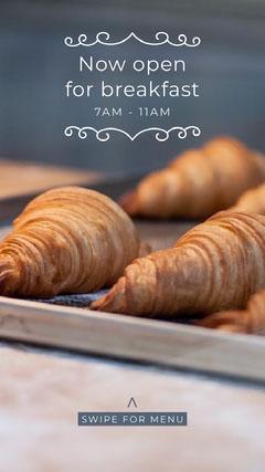 breakfast pastries Instagram story Breakfast