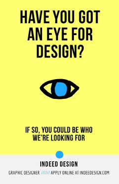 Yellow Eye Design Open Position Job Poster Job Poster